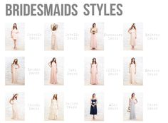 The perfect dress styles for your bridesmaids!