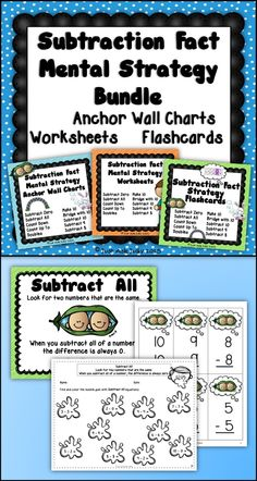 Addition Fact Strategies Bundle of Anchor Charts, Flashcards ...