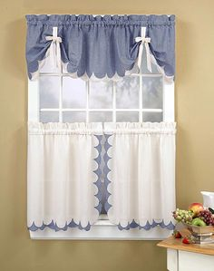 Kitchen window can face light, heat, or direct rain. Besides that, we need style our kitchen window. Of course, kitchen curtain ideas is the best treatment. Modern Kitchen Curtains, Country Kitchen Curtains, Kitchen Curtains And Valances, Cute Curtains, Kitchen Curtain Sets, Beautiful Curtains, Drapes Curtains, Curtain Panels, Farmhouse Valances