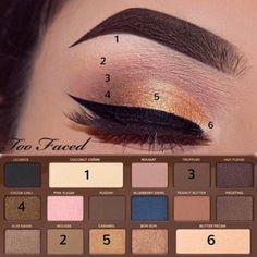 too faced semi-sweet chocolate bar palette tutorial<br> Make Up Palette, Diy Makeup Palette, Makeup Goals, Makeup Inspo, Makeup Inspiration, Too Faced Eyeshadow, Too Faced Makeup, Chocolat Bar Too Faced, Too Faced Lidschatten