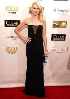 Naomi Watts wowed in a strapless Emilio Pucci gown at the Critics' Choice Movie Awards 2013.