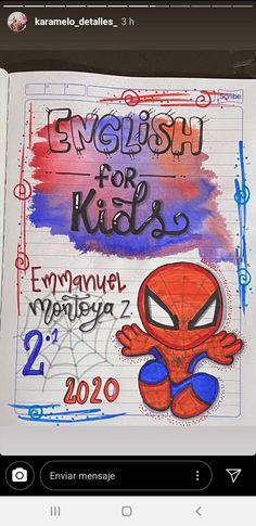 Mehndi Designs Book, Spiderman, Letters, School, Notebooks, Blog, Kids, Diy And Crafts, Creative Notebooks