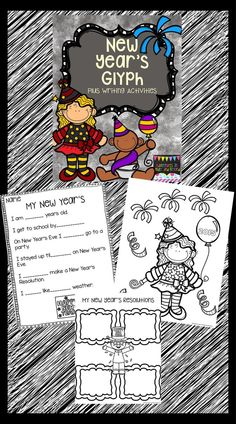 Following directions is extremely important. Glyphs are a fun way to have your students practice this important skill. This activity is perfect for coming back after the new year.  Included is teacher directions, 3 New Year's coloring pages, writing responses, New Year's Resolution organizers, plus more.