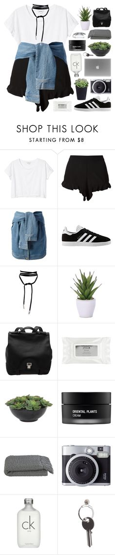"""MADRID"" by feels-like-snow-in-september ❤ liked on Polyvore featuring Monki, Sam&Lavi, DKNY, adidas, Lamoda, Lux-Art Silks, Proenza Schouler, Stila, Koh Gen Do and Crate and Barrel"