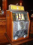 The Sphinx counter top slot machine .  A great piece of Art Deco design and something that can be enjoyed not only in a game room, but also to be admired as a great piece of American artwork.