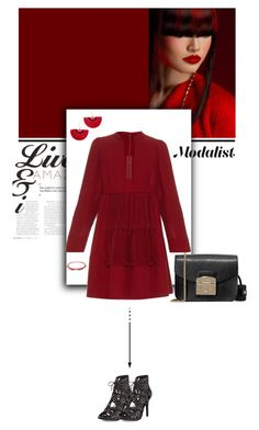 """Style with Open Neck Dress"" by modalist ❤ liked on Polyvore featuring Valentino, Shashi, Raphaele Canot, Furla and Joie"