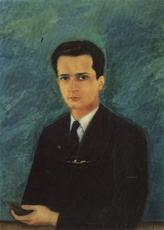 Frida Kalho. Retrato de Agustín Olmedo, 1927 óleo sobre lienzo, 79 x 59 cm.  Museo Frida Kahlo, Coyoacán, México.
