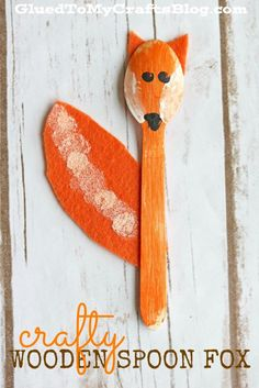 Wooden Spoon Fox - Kid Craft