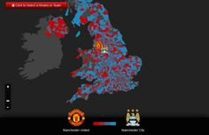 Twitter map shows where Man Utd fans live [Interactive]