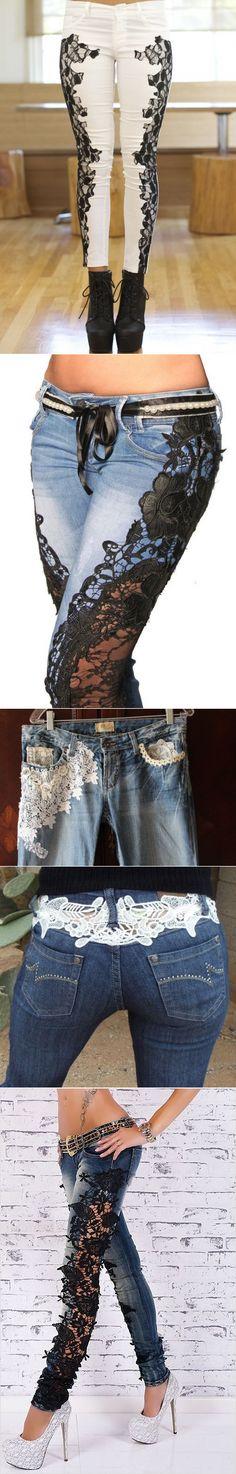 lace Jeans (selection)...♥ Deniz ♥