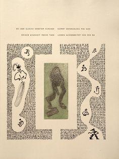 Untitled, pg. 10 (right-hand side), in the book Maximiliana ou l'exercice illégal de l'astronomie: L'Art de voir de Guillaume Temple by Max Ernst (Paris: Iliazd, 1964).