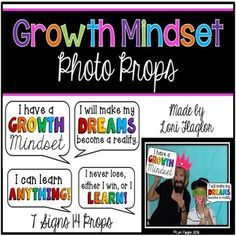 Growth Mindset Photo Props Everyone loves a Photo Booth!