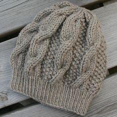Mr K Damenmode - Women Fashion - Stricken Knit Slouchy Hat Pattern, Cable Knit Hat, Slouchy Beanie, Baby Knitting Patterns, Hand Knitting, Crochet Patterns, Free Crochet, Knit Crochet, Crochet Hats