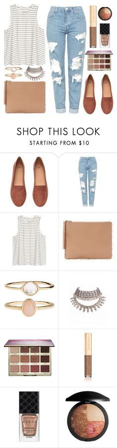 """outfit of the day"" by anja-jovanovich ❤ liked on Polyvore featuring H&M, Topshop, Cynthia Rowley, Accessorize, tarte, Dolce&Gabbana and Gucci"