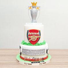 """To All Arsenal Fan"" Champion Birthday Celebration Cake Cakes Without Fondant, Fondant Cakes, Celebration Cakes, Birthday Celebration, Happy Birthday, Birthday Cake, Arsenal, Playground, Champion"