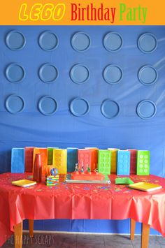 Adorable Lego party with lots of fun creative ideas by marian Lego Movie Party, Lego Themed Party, Ninjago Party, Lego Birthday Party, 6th Birthday Parties, Boy Birthday, Birthday Ideas, Party Planning, Party Time