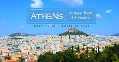 Read our quick guide and find out what to do, what to eat, where to stay and where to go by night in the city of Athens if you have less than 24 hours. Parthenon, Acropolis, Great Place To Work, The Good Place, Famous Cocktails, Time To Leave, Cozy Cafe, Sunny Weather, Like A Local