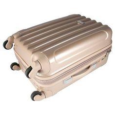 Kensie 3 pc Expandable Hardside Luggage Set - Pale Gold, Light Gold