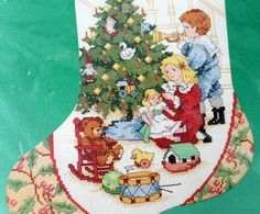 Christmas Morning Stocking Kit Counted Cross Stitch by LifesAYoyo