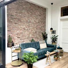 Outdoor Sofa, Outdoor Furniture, Outdoor Decor, Interior Design Instagram, Exposed Brick, Interior Inspiration, Sofas, New Homes, Living Room