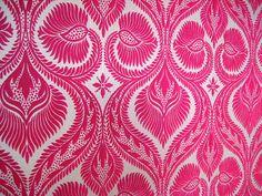 Pink flock wallpaper by Carol Green, via Flickr