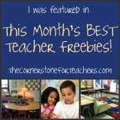 Each month on The Cornerstone blog, she features a handful of the best teacher freebies out there. These are no-cost activities and printables that you can use in your classroom right away.