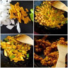 curried chickpeas with kabocha pumpkin