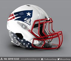 New England Patriots - NFL Concept Helmet by Paul Bunyan Design New Nfl Helmets, Cool Football Helmets, Football Helmet Design, Sports Helmet, Football Gear, Football Uniforms, Football Memes, Football Things, Nfl Gear