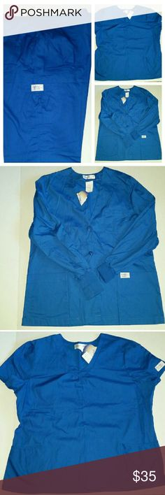 3 piece Sanibel Scrub Set Brand new with tags. Size large flare leg pants. Size XL scrub top. Size Large jacket. Blue or royal blue. All 3 pieces Sanibel Other