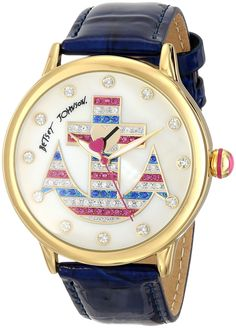 Betsey Johnson Women's BJ00084-51 Analog Display Quartz Blue Watch