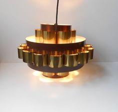 #danishmidcenturymodern #CoronellWernerSchou 1960s brass ceiling light by Verner Schou   http://www.ebay.com/itm/251806550290?ssPageName=STRK:MESELX:IT&_trksid=p3984.m1555.l2649