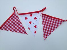 3-Mts-wedding-Bunting-red-check-and-hearts-wedding-bunting-birthday-gift-bunting