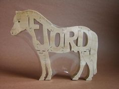 NEW Horse Norwegian Fjord Wood Puzzle Toy Hand  Cut with