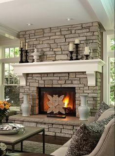 like this fireplace mantel