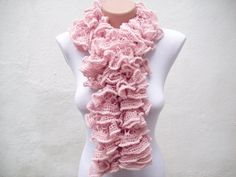SALE  20  Was 25 Now 20  Pink Knit Scarf  Fall Fashion by nurlu, $20.00