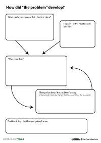 cbt cross sectional formulation worksheet mental health