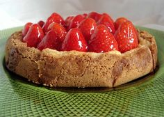 #Tarta #queso #fresas #pay #strawberry #cheesecake #fraise #erdbeere #pie
