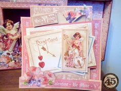 One of the great cards in Clare's altered Sweet Sentiments 8x8 Matchbook Box #graphic45 #cards