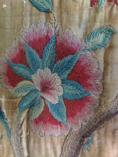 he B we stayed in had these as wall hangings - they were round a four poster bed in the family history. The colours remain bright despite their age.