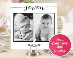 DIY Photo Table Numbers Printable 1-10 by CrossvineDesigns on Etsy