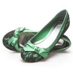 Lasonia Womens M1270 Closed Round Toe Side Bow Black Floral Lace Ballet Flats Ballerina Slip-On Shoes, Green Satin, http://www.amazon.com/dp/B00GU7VV2I/ref=cm_sw_r_pi_awdm_mDootb13N7KYD