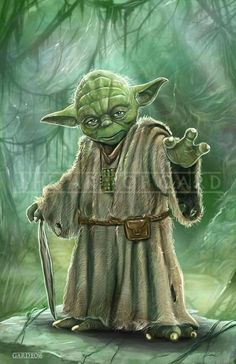 Yoda, from The Empire Strikes Back high quality print.Shipped with protective backing board and clear bag. I also signed the print. Star Wars Jedi, Star Wars Art, Chewbacca, Yoda Drawing, Star Wars Concept Art, Star Wars Images, Luke Skywalker, Star Wars Tattoo, Star Wars Wallpaper