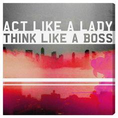 Act Like A Lady Canvas Print - <3