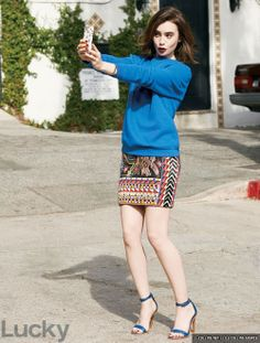 Lily Collins Lucky Magazine April 2014 Issue