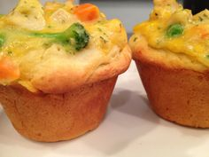Cheesy Chicken Pot Pie Cups...This is a low cal. version but you can use regular if your not dieting.