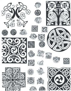 celtic designs. Going to have to see if I can use these on my Cricut.