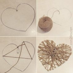 tuto coeur laine fil alu