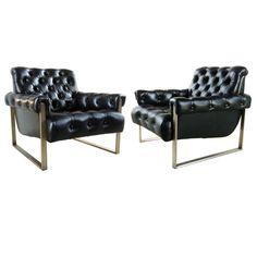 - Pair of Milo Baughman Bronze Tufted Leather Arm Chairs explore items… Retro Armchair, Modern Armchair, Home Furniture, Furniture Design, Retro Furniture, Milo Baughman, Leather Sofa, Leather Armchairs, Single Sofa
