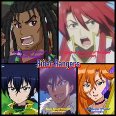 Rider Rangers from Tales of B-Daman