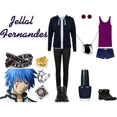 Inspired by Jellal from Fairy Tail Cartoon Outfits, Anime Outfits, Cool Outfits, Casual Outfits, Teen Outfits, Nerd Fashion, Fandom Fashion, Punk Fashion, Lolita Fashion